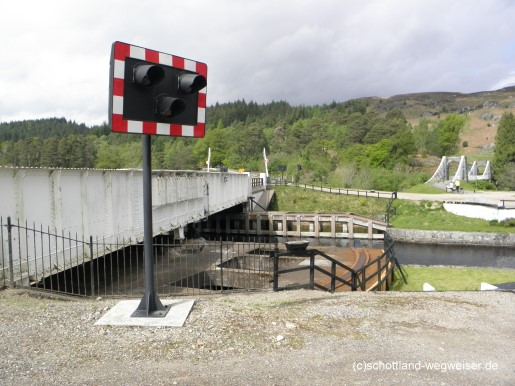 Aberchalder Swing Bridge, Bridge Of Oich, Schottland