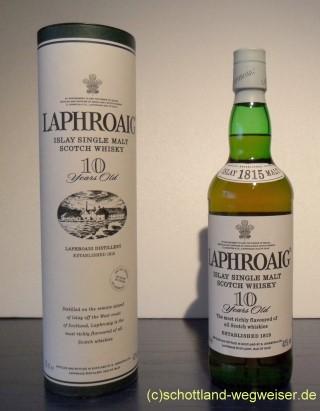 Schottland Wegweiser Schottischer Whisky Laphroaig Distillery