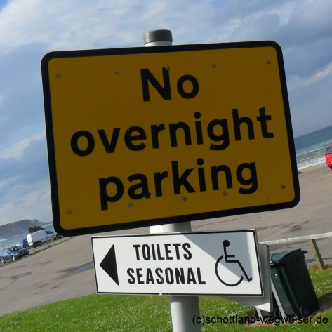 No Overnight Parking, Schottland