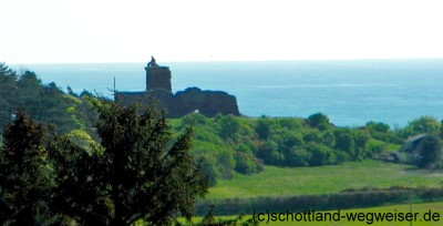 Red Castle of Lunan (Lunan Castle) Schottland